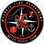 STICKER MELROSE FIRE DEPT WATER RESCUE