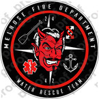 STICKER MELROSE FIRE DEPT WATER RESCUE DEVIL