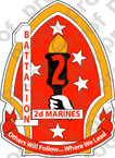 STICKER USMC UNIT   1ST BATTALION 2ND MARINE REGIMENT   ooo   LISC#20187