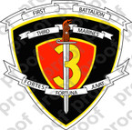 STICKER USMC UNIT   1ST BATTALION 3RD MARINE REGIMENT   ooo   LISC#20187