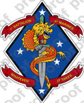 STICKER USMC UNIT   1ST BATTALION 4TH MARINE REGIMENT   ooo   LISC#20187