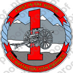 STICKER USMC UNIT   1ST BATTALION 10TH MARINE REGIMENT v2   ooo   LISC#20187