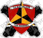 STICKER USMC UNIT   1ST BATTALION 12TH MARINE REGIMENT   ooo   LISC#20187