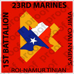 STICKER USMC UNIT   1ST BATTALION 23RD MARINE REGIMENT   ooo   LISC#20187