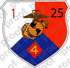 STICKER USMC UNIT   1ST BATTALION 25TH MARINE REGIMENT v1   ooo   LISC#20187