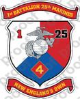 STICKER USMC UNIT   1ST BATTALION 10TH MARINE REGIMENT v2 ooo USMC Lisc No 20187