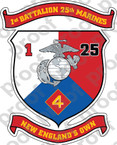 STICKER USMC UNIT   1ST BATTALION 25TH MARINE REGIMENT v2   ooo   LISC#20187