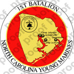 STICKER USMC UNIT   1ST BATTALION YOUNG MARINES   ooo   LISC#20187