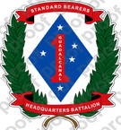 STICKER USMC UNIT   1ST HEADQUARTERS BATTALION   ooo   LISC#20187