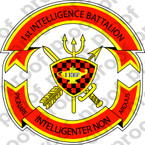 STICKER USMC UNIT   1ST INTELLIGENCE BATTALION   ooo   LISC#20187