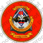 STICKER USMC UNIT   1ST LIGHT ARMOR RECON BATTALION   ooo   LISC#20187
