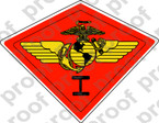 STICKER USMC UNIT   1ST MARINE AIRWING A   ooo   LISC#20187