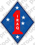 STICKER USMC UNIT   1ST MARINE DIVISION IRAQ COL   ooo   LISC#20187