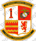 STICKER USMC UNIT   1ST MARINE LOGISTICS GROUP   ooo   LISC#20187