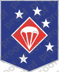 STICKER USMC UNIT   1ST MARINE PARACHUTE REGIMENT   ooo   LISC#20187
