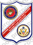 STICKER USMC UNIT   1ST MARINE SECURITY GUARD   ooo   LISC#20187