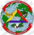STICKER USMC UNIT   1ST MEF ENGINEER GROUP   ooo   LISC#20187