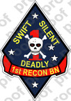 STICKER USMC UNIT   1ST RECON BATTALION v1   ooo   LISC#20187