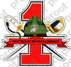 STICKER USMC UNIT   1st Recruit Training Command   ooo   LISC#20187