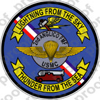 STICKER USMC UNIT   2nd ANGLICO   ooo   LISC#20187