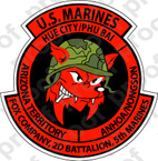 STICKER USMC UNIT   2ND BATTALION 5TH MARINES F CO   ooo   LISC#20187