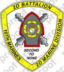 STICKER USMC UNIT   2ND BATTALION 10TH MARINE REGIMENT   ooo   LISC#20187