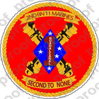 STICKER USMC UNIT   2ND BATTALION 11TH MARINE REGIMENT   ooo   LISC#20187