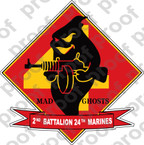 STICKER USMC UNIT   2ND BATTALION 24TH MARINE REGIMENT C   ooo   LISC#20187