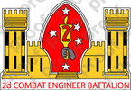 STICKER USMC UNIT   2ND COMBAT ENGINEER BN   ooo   LISC#20187