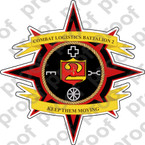 STICKER USMC UNIT   2nd Combat Logistics Battalion   ooo   LISC#20187