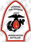 STICKER USMC UNIT   2ND HEADQUARTERS BATTALION   ooo   LISC#20187