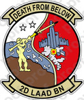 STICKER USMC UNIT   2nd LAAD Low Altitude Air Defense Battalion   ooo   LISC#20187