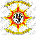 STICKER USMC UNIT   2ND MARINE COMBAT LOGISTICS   ooo   LISC#20187