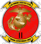 STICKER USMC UNIT   2ND MARINE EXPEDITIONARY FORCE   ooo   LISC#20187