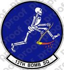 STICKER USAF 13TH BOMB SQUADRON
