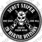 STICKER USMC UNIT   2ND MARINE SCOUT SNIPER ooo Lisc#20187