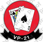 STICKER USN AVU VP 21 BACKJACK 1959
