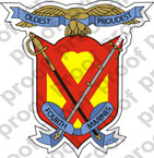 STICKER USMC UNIT   4TH MARINE REGIMENT ooo Lisc#20187