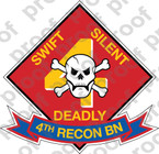 STICKER USMC UNIT   4TH RECON BATTALION B ooo Lisc#20187