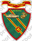 STICKER USMC UNIT   4TH TANK BATTALION D ooo Lisc#20187