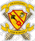 STICKER USMC UNIT   5TH BATTALION 14TH MARINE REGIMENT B v1 ooo Lisc#20187