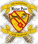 STICKER USMC UNIT   5TH BATTALION 14TH MARINE REGIMENT MP v1 ooo Lisc#20187