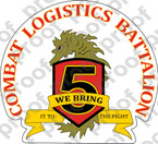 STICKER USMC UNIT   5th Marine Combat Logistics Battalion CLB5 ooo Lisc#20187
