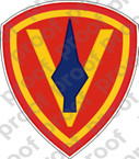 STICKER USMC UNIT   5TH MARINE DIVISION ooo Lisc#20187