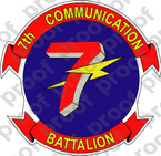 STICKER USMC UNIT   7TH COMMUNICATIONS BATTALION ooo Lisc#20187