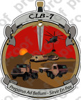 STICKER USMC UNIT   7TH MARINE COMBAT LOGISTICS ooo Lisc#20187
