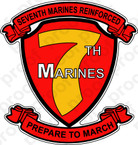 STICKER USMC UNIT   7TH MARINE REGIMENT B ooo Lisc#20187