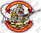 STICKER USMC UNIT   8TH COMMUNICATIONS BATTALION B ooo Lisc#20187
