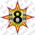 STICKER USMC UNIT   8th Engineer Support Battalion ooo Lisc#20187