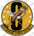 STICKER USMC UNIT   8TH MARINE CORPS DISTRICT ooo Lisc#20187